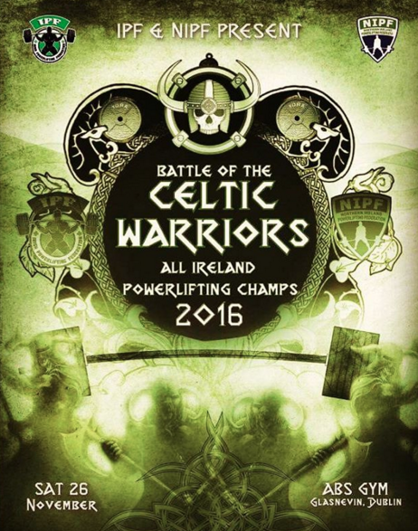 Wanna see a comp? Come watch Ireland's best lifters compete head to head in Dublin on 26 November - entry is free.