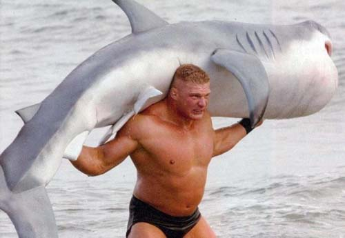 "It might not make you ""Brock Lesner wrestling a shark"" manly, but it'll be close!"