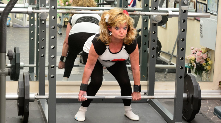 Pat Reeves, a British lady still kicking ass in her 70s